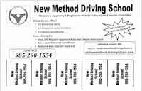 Driving lessons and BDE course Brampton