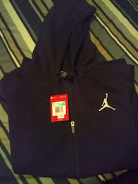 blue and white Nike zip-up hoodie Midwest City
