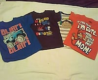 4 named brand shirts 3- 2T and 1-3T