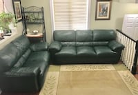 3 PIECE GREEN GENUINE LEATHER SOFA SET Mississauga, L4Z 3T2