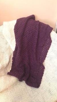 Purple knit infinity scarf Coquitlam, V3E