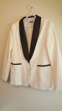 Men's white and black dress coat Red Deer, T4P 2S5