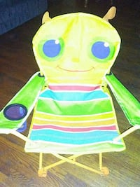 yellow and multicolored insect design butterfly chair