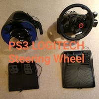 Logitech PS3 Steering Wheels & Petals Manassas, 20109