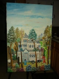 white and brown house painting