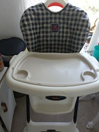 baby's white and black highchair Newmarket