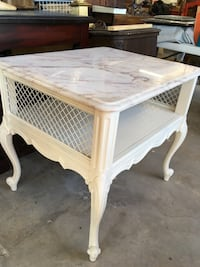 French provisional end table night stand marble top Crowley, 76036