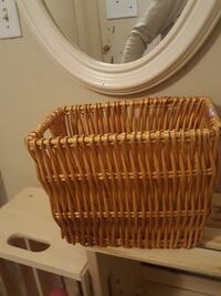 rectangular brown wicker basket Edmonton, T5C 0M2