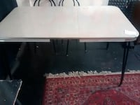 rectangular white wooden table with chairs Flint, 48503