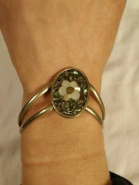 Silver stone bracelet made in Mexico
