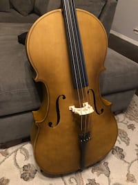 4/4 Matte Style Cello with New Bow, Digital Tuner Excellent Condition