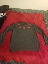 Large givenchy red star / grey sweater (purchased for 2000$ from nord)