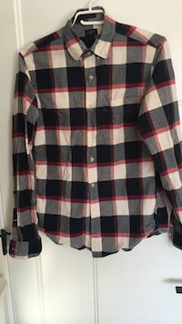 Man red white and black flannel Surrey, V3Z 0L9