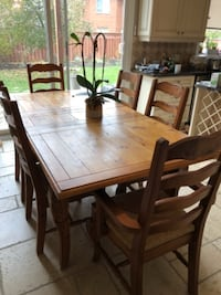French oak table with oak and rattan seats  TORONTO