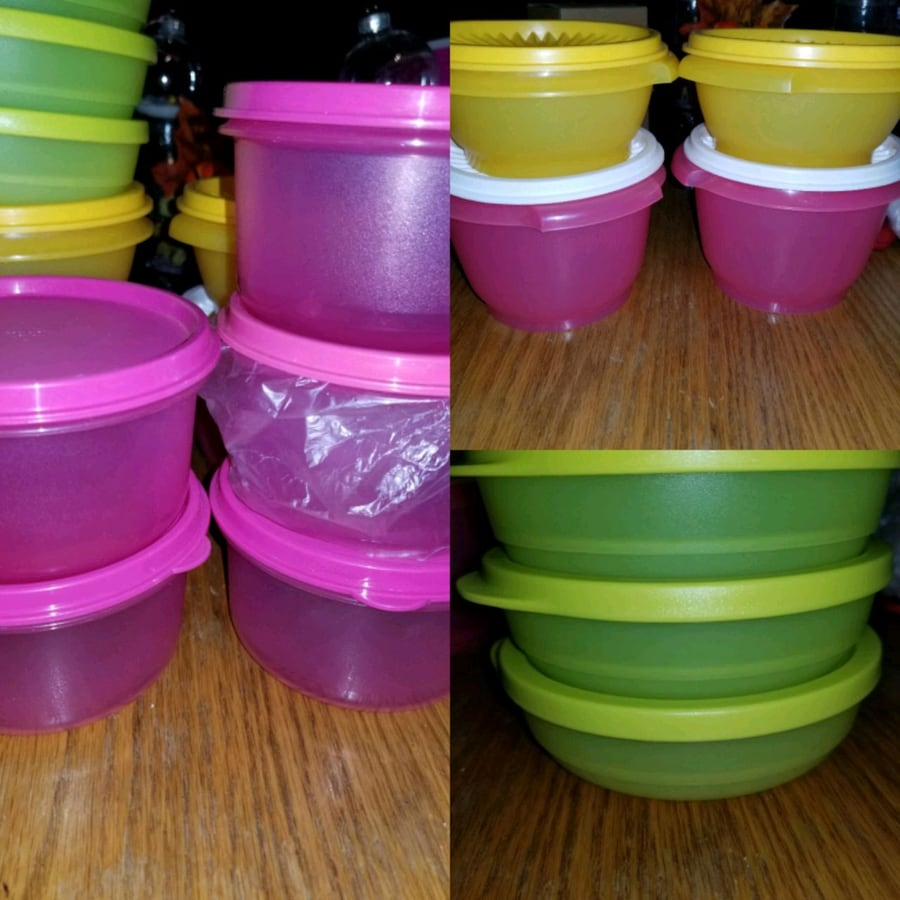 Tupperware small bowls