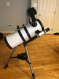 """6"""" Twinstar telescope with iOptron automatic aiming and Hi-Res Variscope Digital camera Sterling, 20165"""