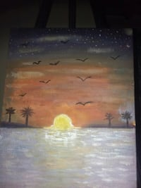 "Oil Painting (16x11) ""sunset"" Monterey Park, 91754"