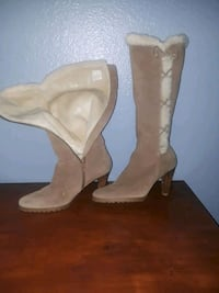 pair of brown leather cowboy boots El Paso, 79936