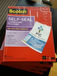 Scotch 3M self seal laminating sheets