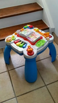 Toddler musical activity table, legs fold in.