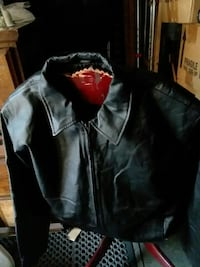 Excelled mens black leather jacket  large