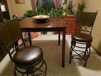 Table & 2 swivel barstools  Pickerington