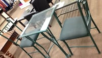 two gray metal framed glass top tables Merced, 95348