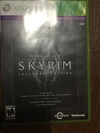 Skyrim Xbox 360 game case