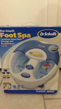 Dr. scholls toe touch foot spa box