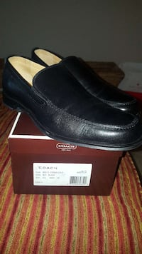 black Coach leather loafers on box Germantown, 20876
