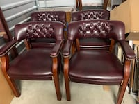 (6) Beautiful leather conference chairs
