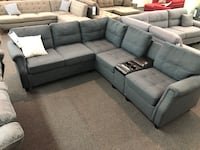 Only $50 Down!  New Sectional With USB Port. Grey. Delivery included! Cerritos
