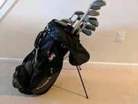 black golf bag with golf clubs Germantown