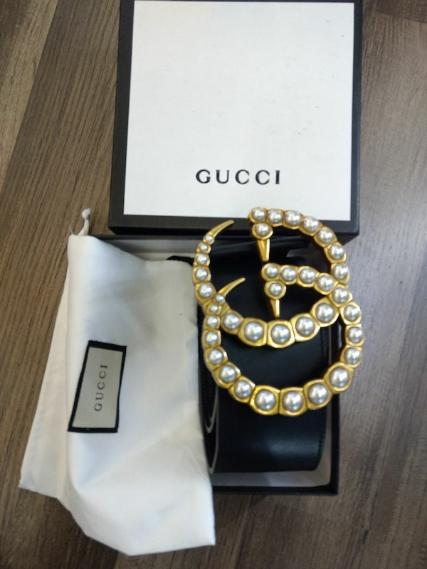b801e8fe832 Used Wide gucci leather belt with pearls for sale in Atlanta - letgo
