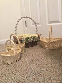 two brown wicker basket and white ceramic vase Traverse City, 49686