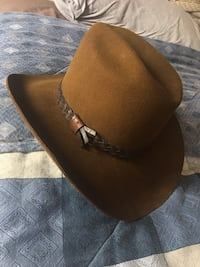 6 7/8 Size Smithbilt Hat Pinch Natural Brown Outdoors Cowboy Hat Rodeo Quality Felt