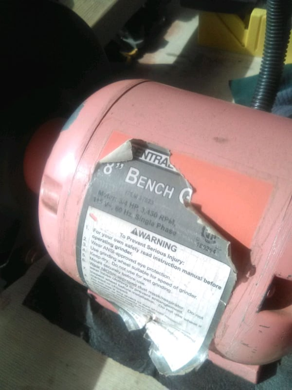 """8"""" BENCH GRINDER WITH LIGHT 8f323090-844a-4227-9679-743dc97650b3"""