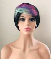 Very Pretty Pastel Colored Short Wig for Everyday or Cosplay