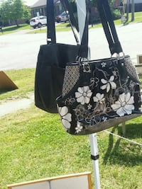 black and white floral tote bag Louisville, 40229