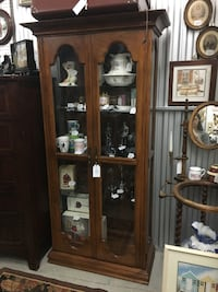 Curio Cabinet with 3 Glass Shelves Jacksonville