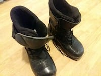 pair of black leather boots Denver