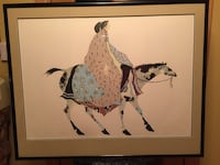 Carol Grigg Signed and Numbered Fiesta Watercolor Lithograph Art