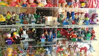 Lots of authentic Lego minifigures.
