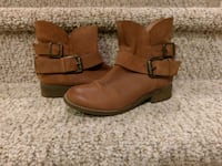 New 6.5/7 Leather Steve Madden Ankle Boots,Women's Woodbridge, 22193