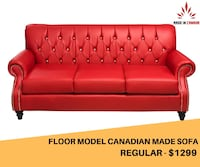 canadian made floor model sofa on sale at very lowest price in gta  Brampton