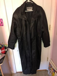 Men's Leather Trench Coat Middletown, 10940
