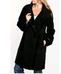 black button-up coat size L Toronto, M3C 1B5