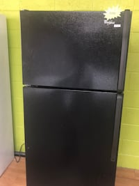 Black Whirlpool Top Freezer Refrigerator  Woodbridge, 22191