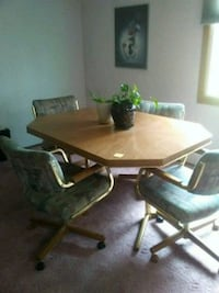 rectangular brown wooden table with chairs Great Falls, 59404