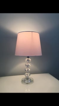 2-White shade solid crystal lamps